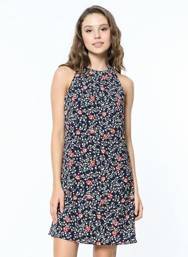 Koton Çiçek Desenli Kolsuz Kısa Elbise